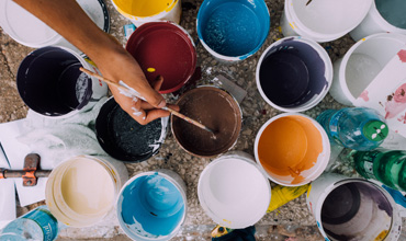 Paints and Coatings - paint tins